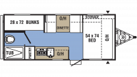 2019 Clipper 17BH Floor Plan