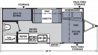 2017 Apex Nano 185BH Floor Plan
