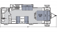 2018 Apex Ultra-Lite 249RBS Floor Plan