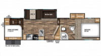 2019 Chaparral Lite 295BH Floor Plan