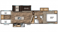 2018 Chaparral Lite 29BHS Floor Plan