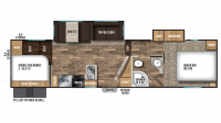 2019 Chaparral X-Lite 295X Floor Plan