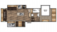 2018 Chaparral 298RLS Floor Plan