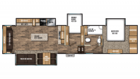 2019 Chaparral 360IBL Floor Plan