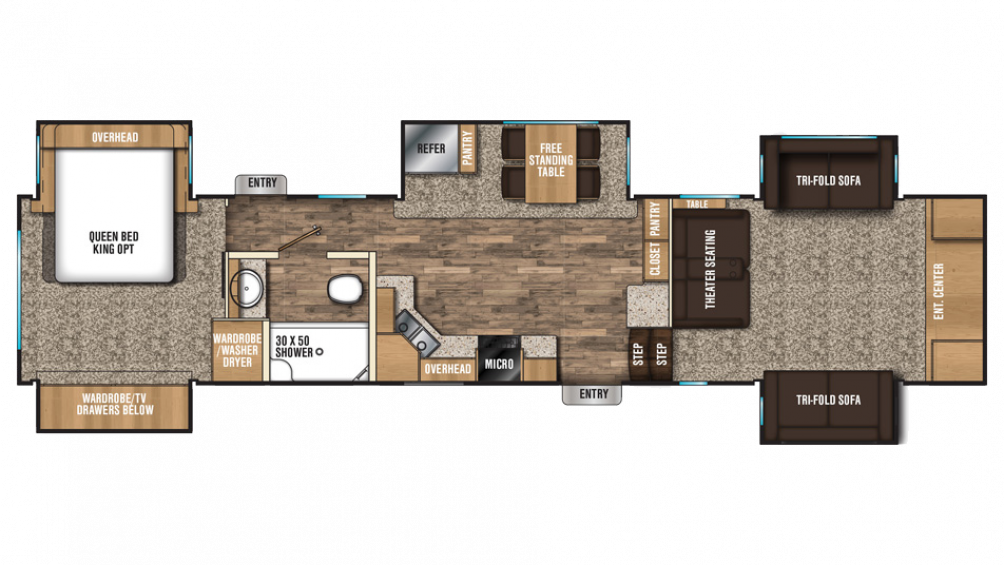 2018 Chaparral 370FL Floor Plan Img
