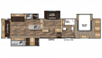 2019 Chaparral 391QSMB Floor Plan