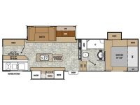 2013 Chaparral Lite 29BHS Floor Plan