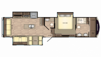 2018 Cruiser 3451FB Floor Plan