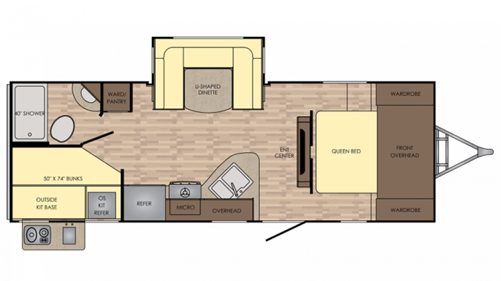 2018 Sunset Trail Super Lite 239BH Floor Plan Img