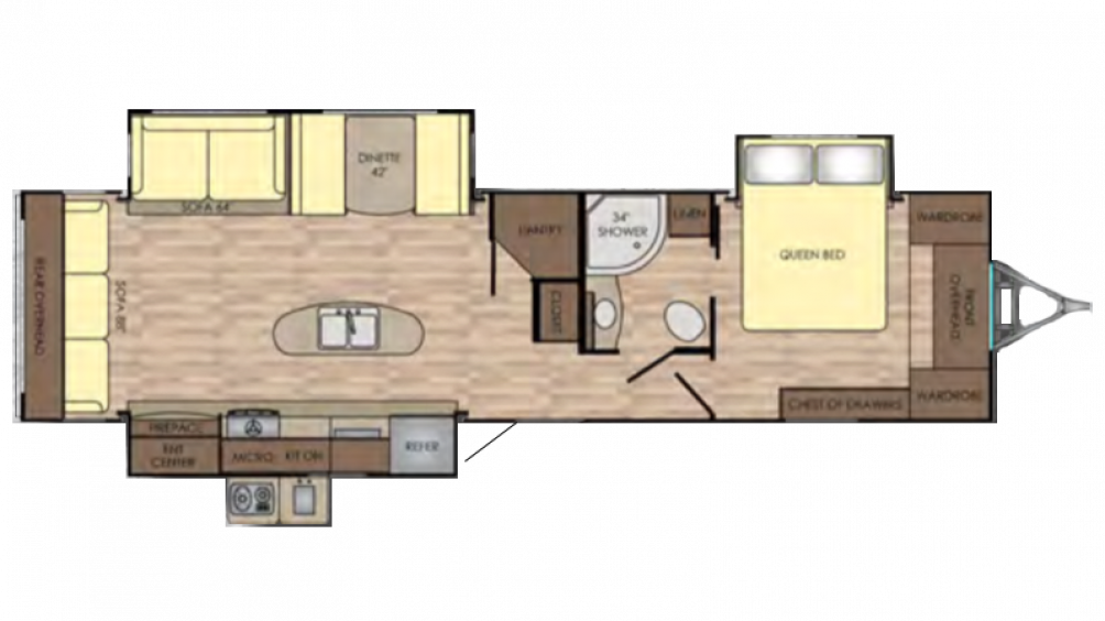 2018 Sunset Trail Grand Reserve 33SI Floor Plan Img