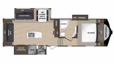 2018 Astoria by Aerolite 2953RLF Floor Plan Img