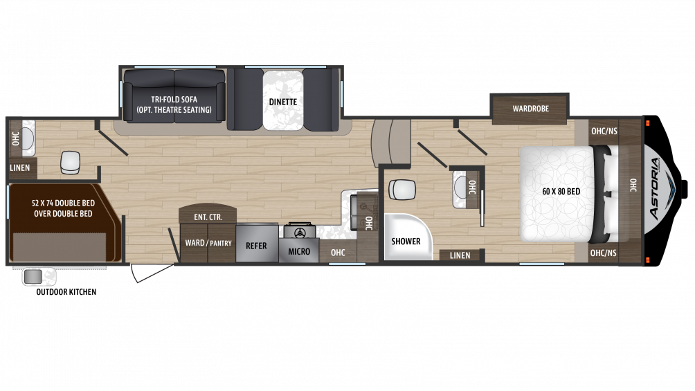 2018 Astoria by Aerolite 3123BHF Floor Plan Img