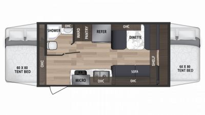 2019 Kodiak Cub 186E Floor Plan Img