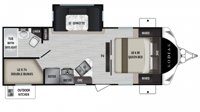 2019 Kodiak Ultimate 240BHSL Floor Plan Img
