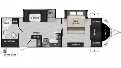 2019 Kodiak Ultimate 2711BS Floor Plan Img