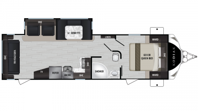 2019 Kodiak Ultimate 290RLSL Floor Plan Img