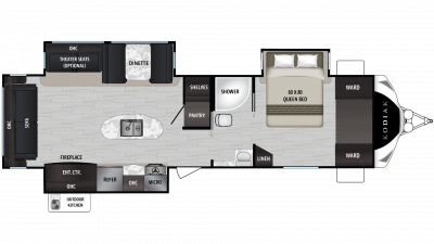 2019 Kodiak Ultimate 3211RLSL Floor Plan Img