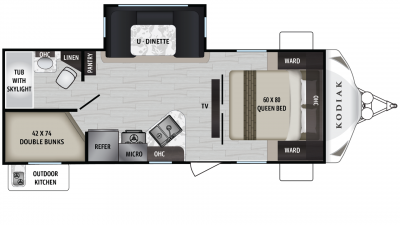 2019 Kodiak Ultra Lite 243BHSL Floor Plan Img