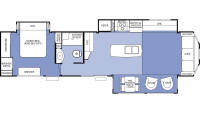 2014 Cedar Creek Cottage 40CCK Floor Plan