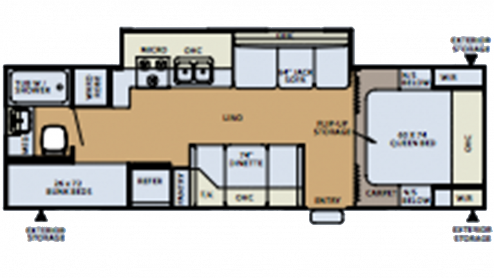 2006 Flagstaff Super Lite 26BHSS Floor Plan Img