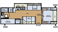 2006 Flagstaff Super Lite 26BHSS Floor Plan