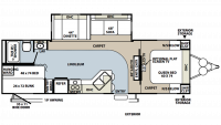 2008 Rockwood Signature Ultra Lite 8298SS Floor Plan