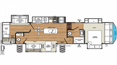 2019 Sandpiper 382VIEW Floor Plan Img