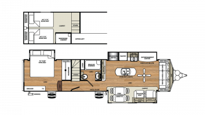2019 Sandpiper Destination 399LOFT Floor Plan Img