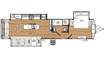 2019 Sandpiper Destination 393RL Floor Plan Img