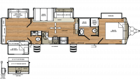 2019 Sandpiper Destination 404QBWD Floor Plan