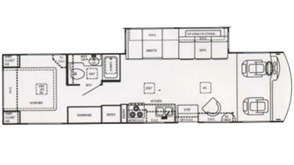 2003 Hurricane 33SL Floor Plan Img