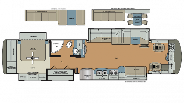 2019 Berkshire XLT 43B-450 Floor Plan