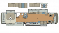 2019 Berkshire XLT 43B Floor Plan