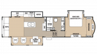 2018 Cedar Creek 34RL2 Floor Plan