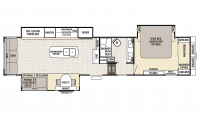 2018 Cedar Creek Champagne 38EL Floor Plan