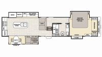 2019 Cedar Creek Champagne 38ERK Floor Plan