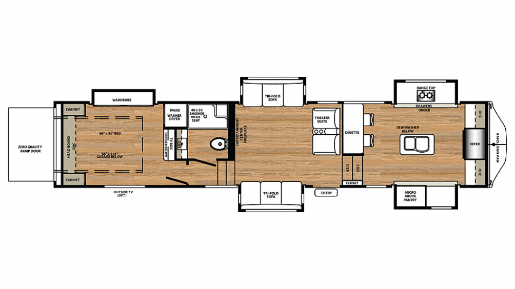 2018 RiverStone 39FKTH Floor Plan Img