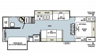 2011 Rockwood Ultra Lite 2902SS Floor Plan