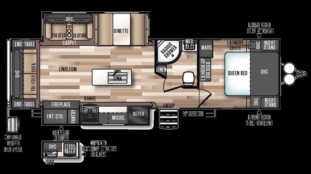 2018 Salem Hemisphere 272RL Floor Plan Img