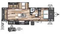 2019 Salem Hemisphere 272RL Floor Plan