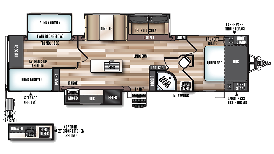 Triple Slide Travel Trailer Floorplans