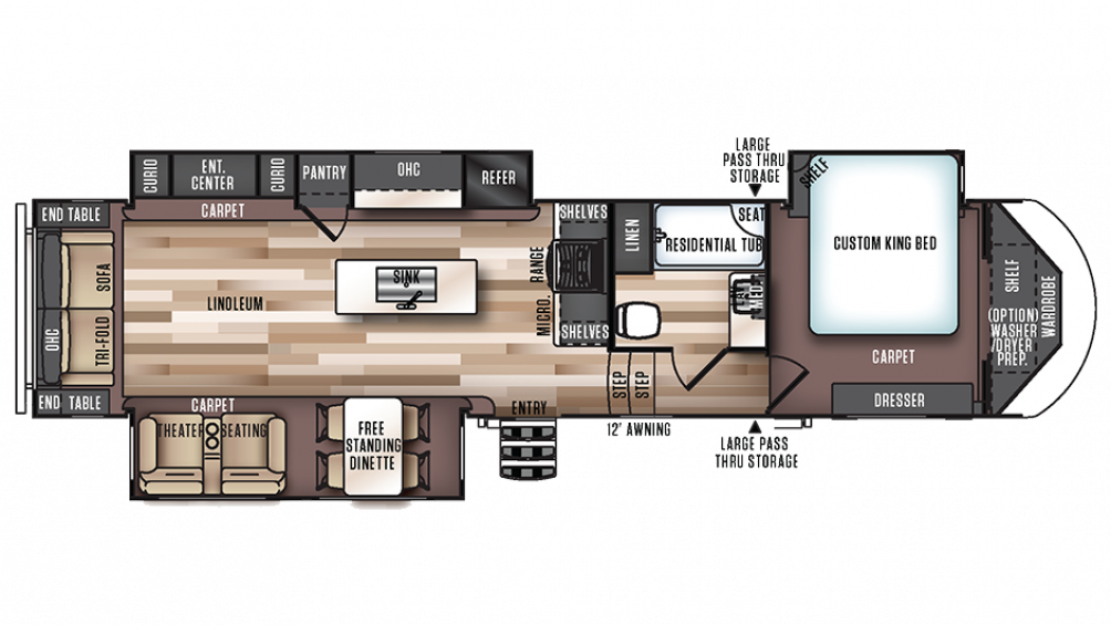 2018 Salem Hemisphere 337BAR Floor Plan Img