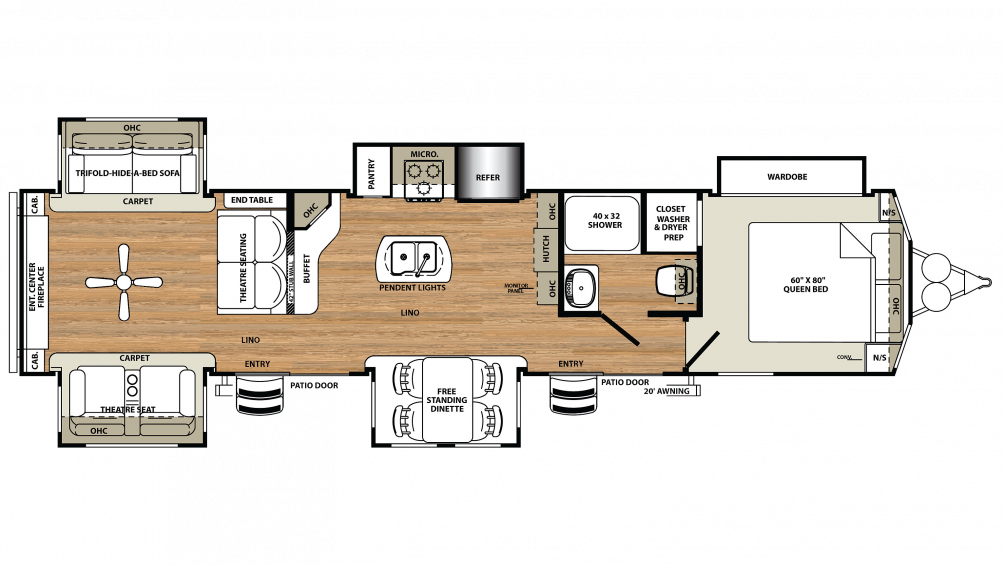 2018 Sandpiper Destination 403RD Floor Plan Img