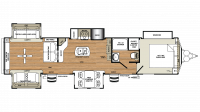 2019 Sandpiper Destination 403RD Floor Plan