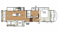 2019 Sandpiper 357RE Floor Plan