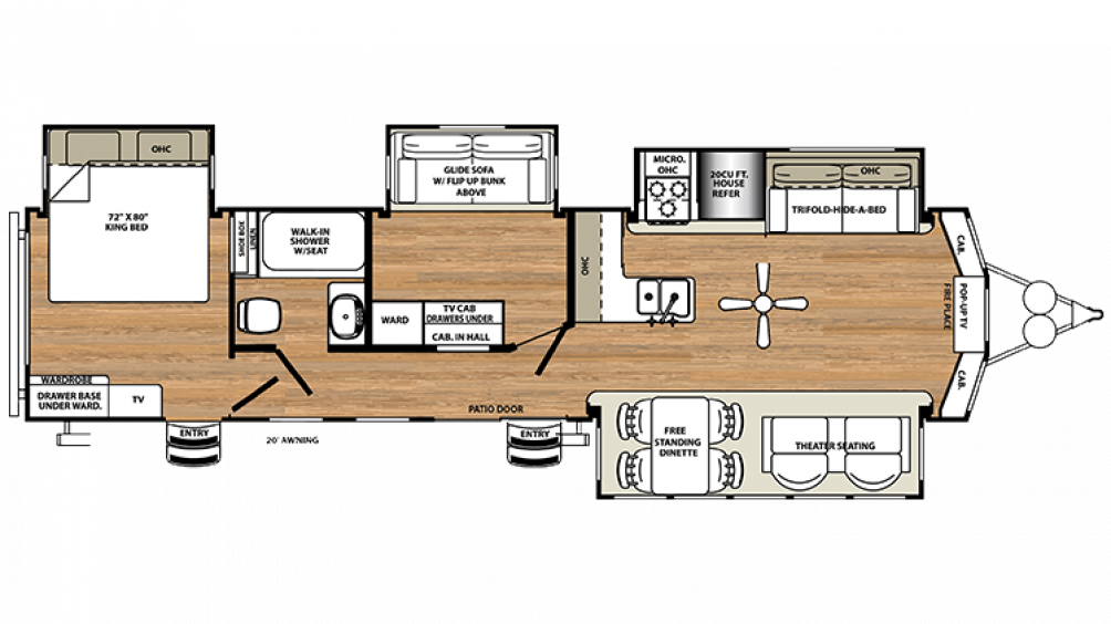 2018 Sandpiper Destination 385FKBH Floor Plan Img