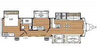 2018 Sandpiper Destination 385FKBH Floor Plan
