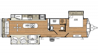 2019 Sandpiper Destination 393RL Floor Plan