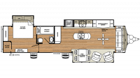 2018 Sandpiper Destination 401FLX Floor Plan