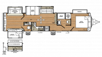 2018 Sandpiper Destination 404QBWD Floor Plan